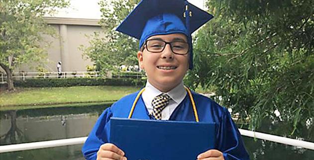 11-year-old William Maillis graduates St  Petersburg College